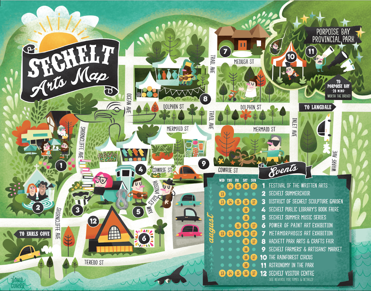 Sechelt Arts Map - Image