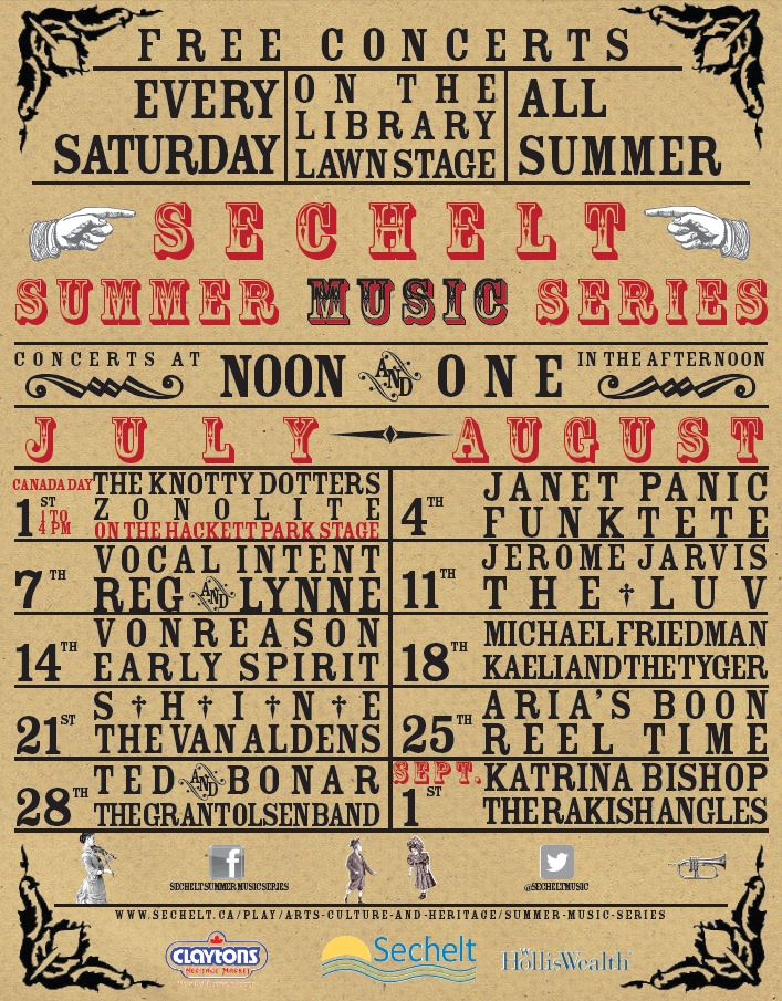 Summer Music Series poster 2018