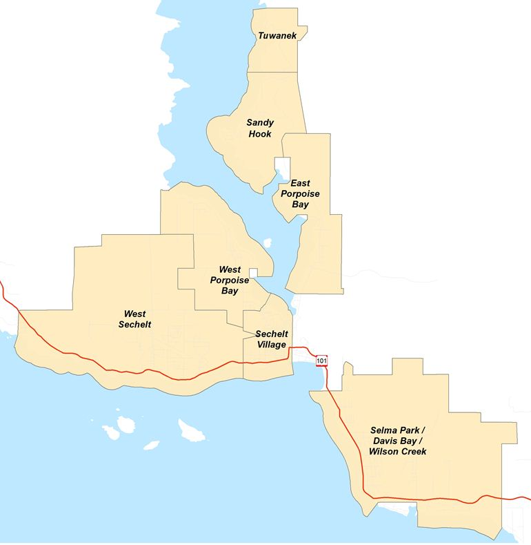 Sechelt Neighbourhoods